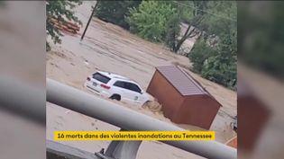 Des inondations dans le Tennessee (FRANCEINFO)