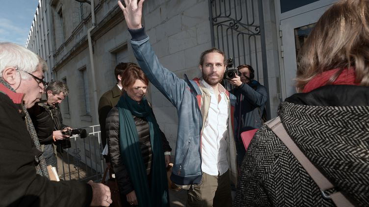 Le militant Jon Palais à l'ouverture de son procès, le 9 janvier 2017 à Dax. (IROZ GAIZKA / STR)