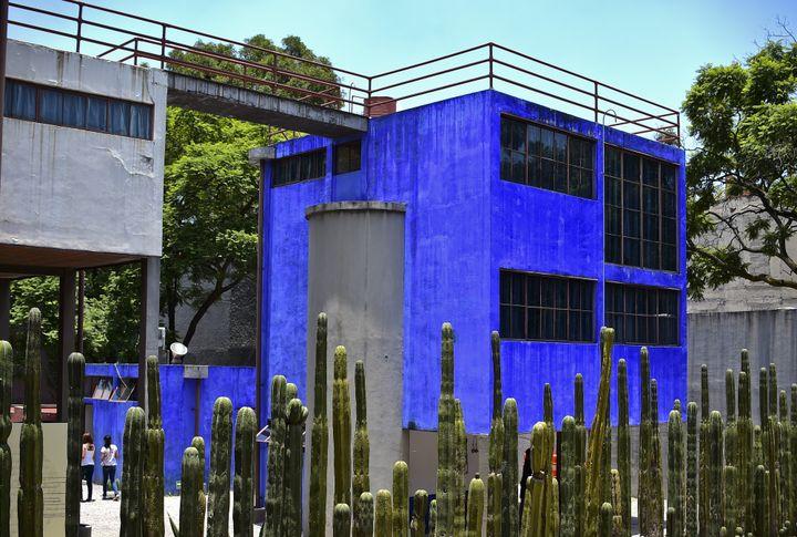 La maison-atelier de Frida Kahlo et Diego Riveira à Mexico, juillet 2015  (RONALDO SCHEMIDT / AFP)