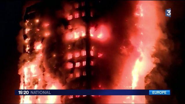 Incendie dans un tour à Londres : le bilan s'alourdit