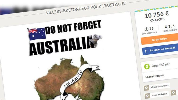 Capture écran du site de la cagnotte qui affiche plus de 10 000 euros collectés samedi matin. (CAPTURE D'ÉCRAN)