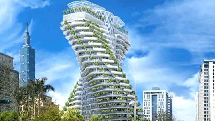 Immeuble vert à Taipei, imaginé par le cabinet Callebaut Architectures  (DR / Cabinet Callebaud architectures)