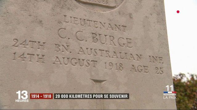 1914-1918 : les descendants des combattants australiens visitent le front