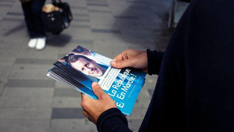 Dans l'Eure, les militants de La République en marche gardent confiance dans le mouvement lancé par Emmanuel Macron avant la présidentielle (illustration). (MAXPPP)