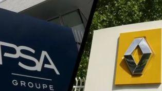 Renault et PSA, constructeurs. (FRANCE 2)