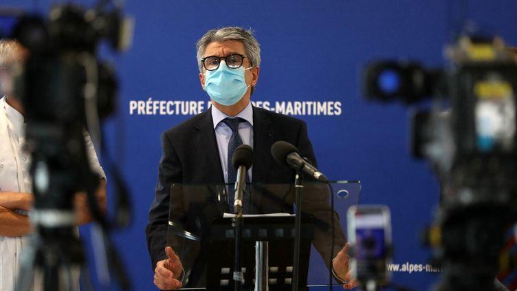 Le préfet des Alpes-Maritimes, Bernard Gonzalez, lundi 22 février 2021 à Nice. (VALERY HACHE / AFP)