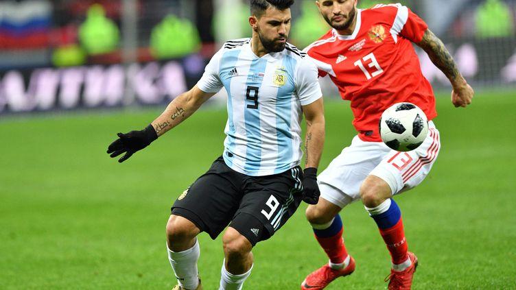 Sergio Aguëro a trouvé l'ouverture en toute fin de match pour l'Argentine