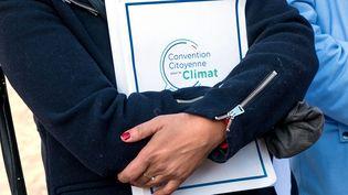 Une participante à la Convention citoyenne pour le climat, à l'Élysée, le 14 octobre 2020. (MAXPPP)