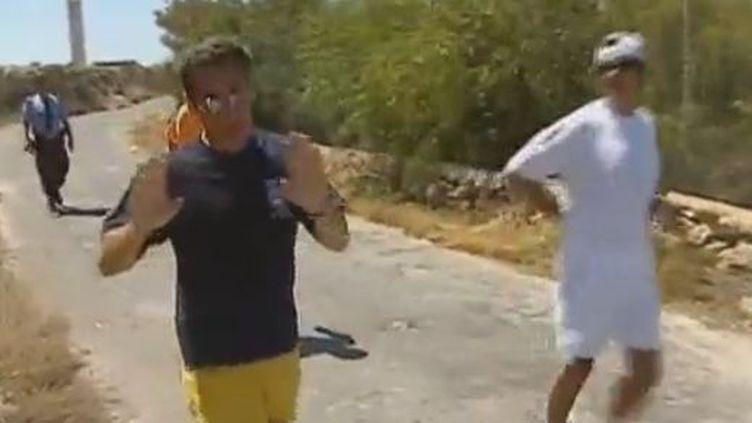 Nicolas Sarkozy en plein jogging, au début de son quinquennat en 2007. (FRANCE TELEVISIONS)