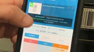 L'application permettant de comparer les prix. (France 2)