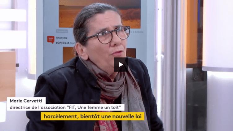 Marie Cervetti, membre du Haut Conseil pour l'égalité entre les femmes et les hommes et directrice de l'association Fit, une femme, un toît. (FRANCEINFO)