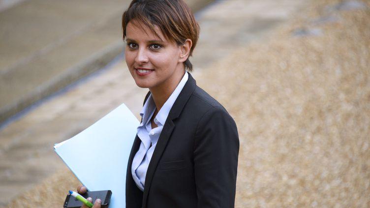 La ministre Najat Vallaud-Belkacem, ici arrivantà l'Elysée le 27 août 2014, est attendue sur plusieurs projets concernant l'Education nationale. (BERTRAND GUAY / AFP)