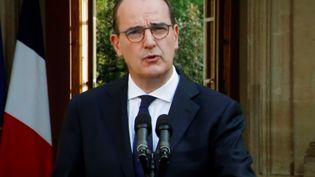 Le Premier ministre Jean Castex lors de son allocution télévisée sur l'épidémie de coronavirus, à Matignon, le vendredi 11 septembre 2020. (THOMAS COEX / AFP)