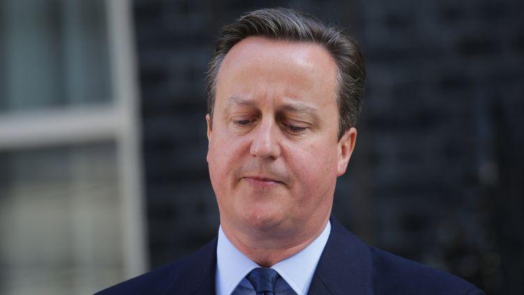 Le Premier ministre britannique, David Cameron, annonce sa prochaine démission, à Londres (Royaume-Uni), le 24 juin 2016. (MICHAEL KAPPELER / DPA / AFP)