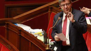 Jean-Luc Mélenchon, député La France insoumise, à l'Assemblée nationale, le 24 février 2020. (LUDOVIC MARIN / AFP)