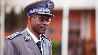 Le général Gilbert Diendéré, leader d'un putsch avorté, le 18 septembre 2015 à Ouagadougou (Burkina Faso). (THEO RENAUT / AP / SIPA )