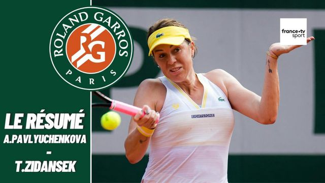 Les meilleurs moments du match Anastasia Pavlyuchenkova - Tamara Zidansek