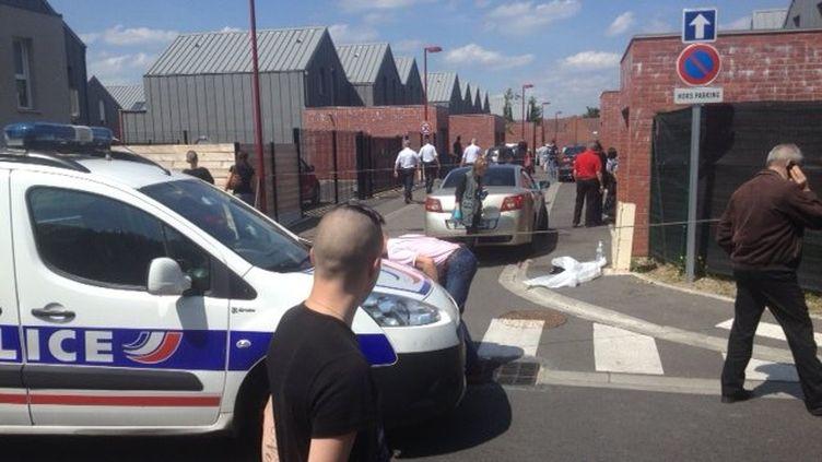 Une jeune femme a été tuée par balle en marge d'un mariage à Marly (Nord), le 13 juin 2015. (SEBASTIEN GURAK - FRANCE 3 NORD PAS-DE-CALAIS)