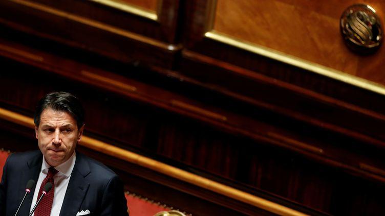 Le président du Conseil italien sortant Giuseppe Conte à Rome, le 20 août 2019. (YARA NARDI / REUTERS)