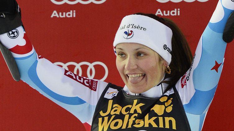Anémone Marmottan heureuse de son podium (JONATHAN NACKSTRAND / AFP)