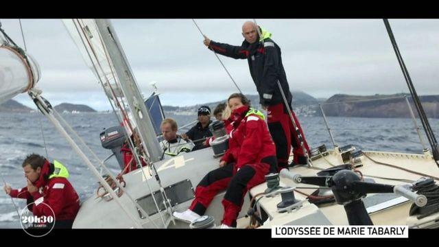 """VIDEO. Marie Tabarly invite des personnalités à bord de """"Pen Duick VI"""" pour les sensibiliser aux problèmes de la planète"""