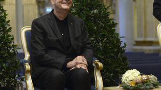 Le prix Nobel de littérature Patrick Modiano, le 6 décembre 2014 à Stockholm (Suède). (MAJA SUSLIN / TT NEWS AGENCY / AFP)