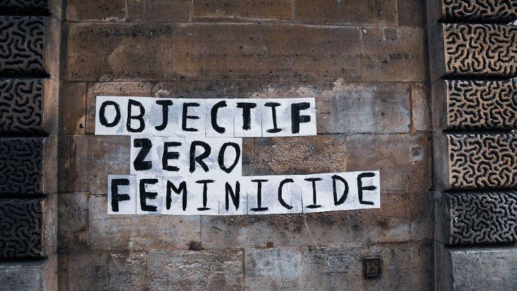 49 personnes avaient manifesté contre les violences faites aux femmes à Paris le 23 novembre 2019. (JEROME LEBLOIS / HANS LUCAS)