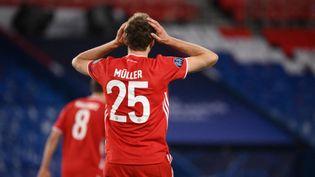 Le FC Bayern Munich ne s'est pas qualifié pour les demi-finales de la Ligue des champions, au stade du Parc des Princes (Paris), le 13 avril 2021. (FRANCK FIFE / AFP)