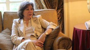 Bassma Kodmani, porte-parole du Conseil national Syrien, au Caire, le 26 avril 2012. (AFP/KHALED DESOUKI)