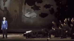 """Marianne Crebassa est Orphée dans """"Orphée et Erydice"""" à l'Opéra comique.  (Pierre Grosbois)"""