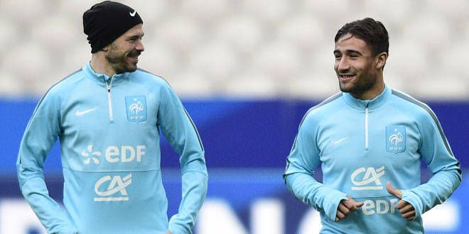 Les deux Lyonnais Christophe Jallet et Nabil Fékir devraient avoir leurs chances en Bleu contre le Danemark en amical