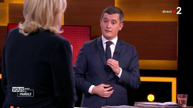 """It's your turn to speak : """"You are softer than we can be"""", launches Gérald Darmanin to Marine Le Pen"""