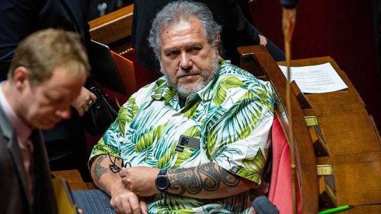 Le député de Polynésie,Moetai Brotherson, le 4 février 2020 à l'Assemblée nationale. (MAXPPP)