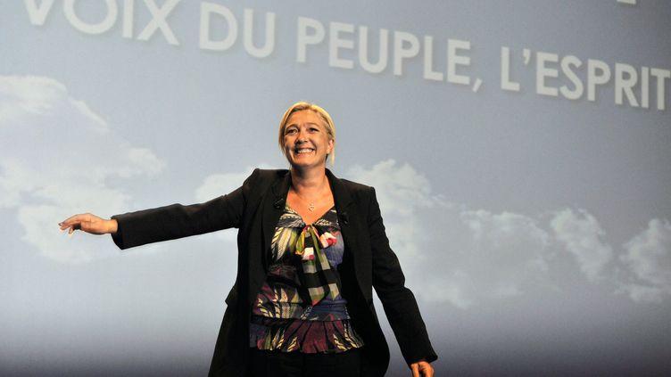 Marine Le Pen lors de ses Journées d'été, à Nice, le 11 septembre 2011. (JEAN-PIERRE AMET / REUTERS)