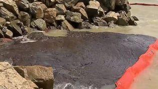 Quelque 130 plages du pays ont vu arriver depuis un mois des plaques de pétrole sur le sable, provoquant une marée noire d'une ampleur exceptionnelle. (FRANCE 2)
