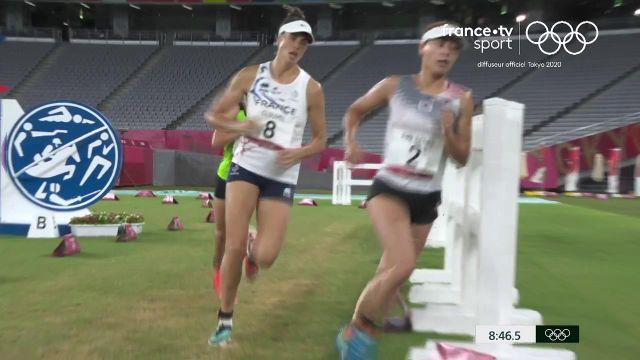 En embuscade avant la dernière épreuve combinée du pentathlon moderne (laser run), Élodie Clouvel et Marie Oteiza terminent loin du podium après beaucoup trop d'imprécisions aux tirs. La Britannique Kate French a survolé le laser run pour filer vers le titre olympique, suivie de la Lituanienne Laura Asadauskaite et la Hongroise Sarolta Kovacs.