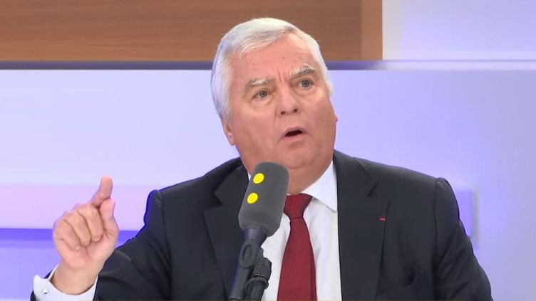 Jean-Luc Petithuguenin, patron de Paprec, le 25 septembre sur franceinfo. (FRANCEINFO / RADIO FRANCE)