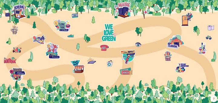 La carte du site We Love Green TV sur laquelle on peut baguenauder en quelques clics d'un concert à une conférence. (WE LOVE GREEN TV)