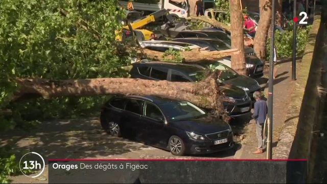 Orages : la grêle s'est abattue sur la commune de Figeac