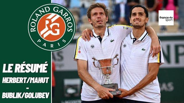 Les meilleurs moments de la finale du double Mahut/Herbert - Bublik/Golubev