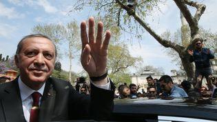 Recep Tayyip Erdogan à Istanbul (Turquie), le 17 avril 2017. (ANADOLU AGENCY / AFP)