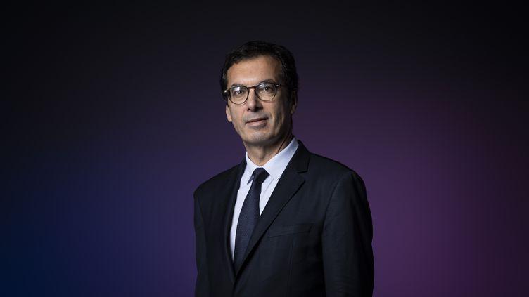 Jean-Pierre Farandou, le nouveau président du directoire de la SNCF, le 26 septembre 2019, à Paris. (LIONEL BONAVENTURE / AFP)