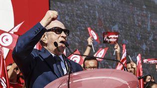 Béji Caïd-Essebsi, le 1er novembre 2014 à Monastir, en Tunisie. ( CITIZENSIDE / AFP)