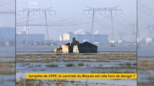La centrale de Blayais en 1999. (FRANCEINFO)