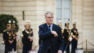 Le haut-commissaire à la réforme des retraites, Jean-Paul Delevoye, à l'Elysée, le 14 mai 2017. (DENIS MEYER / HANS LUCAS / AFP)