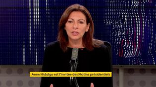 Anne-Hidalgo, maire de Paris, invitée des matins présidentiels de franceinfo, le 25 octobre 2021 (FRANCEINFO / RADIO FRANCE)