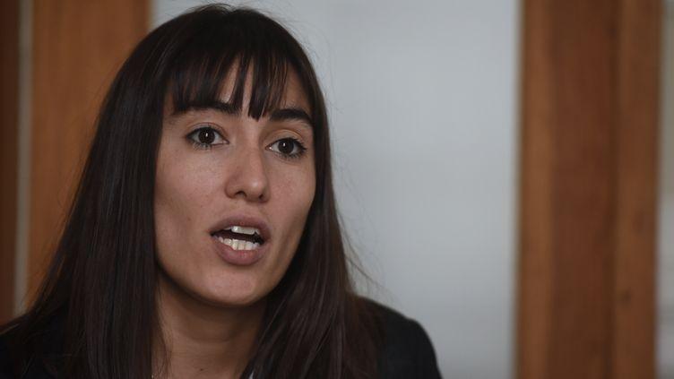 La députée LREM des Français de l'étranger, Paula Forteza, le 5 juin 2017, à Buenos Aires (Argentine). (EITAN ABRAMOVICH / AFP)