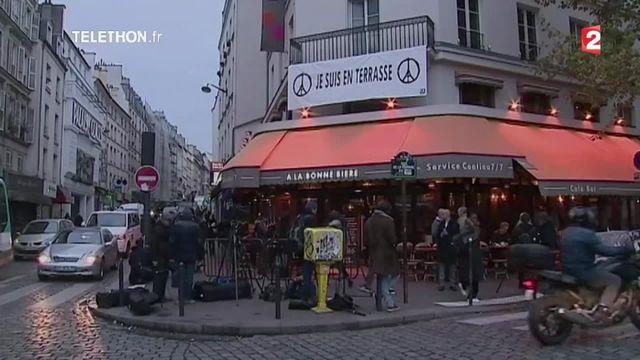 Attentats de Paris : le café La Bonne Bière rouvre ses portes