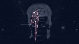 La série d'étoiles dédiée à David Bowie, en forme d'éclair.  (http://stardustforbowie.be/)