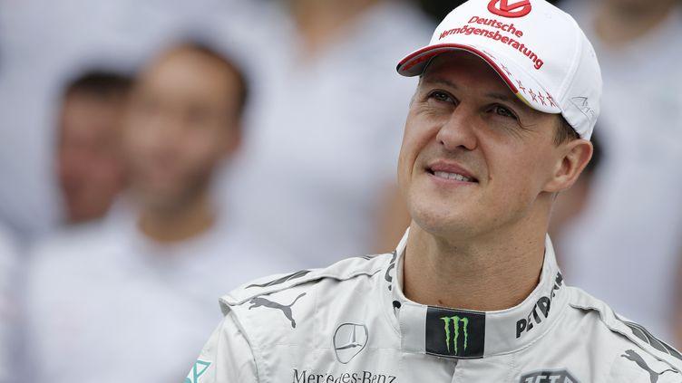 Michael Schumacher lors du Grand Prix du Brésil de Sao Paulo, le 25 novembre 2012. (JEAN MICHEL LE MEUR / DPPI / AFP)